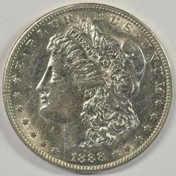 Solid Choice AU+ 1888-S Morgan Silver Dollar. Key date
