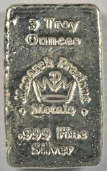 Special 3 Troy Oz. pure .999 fine silver Monarch Bar