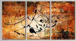 POWERFUL TRIPTYCH ABSTRACT BY RICK D'ALESSANDRO