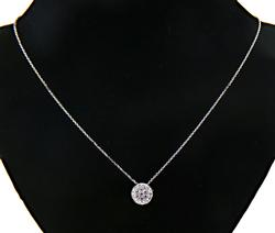 Radiant 14kt Diamond Pendant