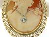 Magnificent Oversized Carved Cameo w/Diamond Accent