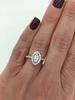 14K White Gold Marquise Cut Halo Diamond Ring