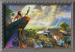 Collectible Thomas Kinkade Color Artwork On Canvas