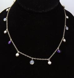 Alluring Tiffany & Co Silver and Gemstone Necklace, 16in