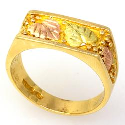Black Hill's Gold Tri-Color Ring, Size 10.5