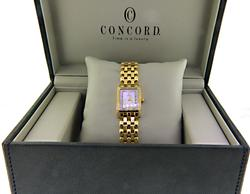 Concord 18kt Yellow Gold Ladies Mini Quartz Watch