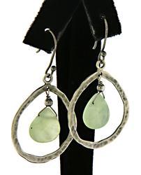 Sterling Silver Hammerd Dangle Earrings