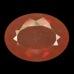 Top orange red 3.92ct Mexican Fire Opal