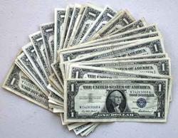 27 Clean Silver Certificates Mostly Various 1935 Series