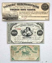 3 1861 -2 New Jersey Fractional Notes