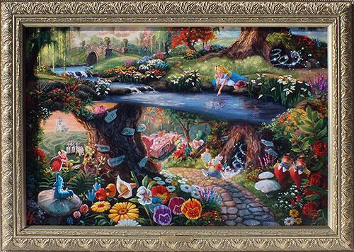 Collectible Thomas Kinkade Color Artwork On Canvas