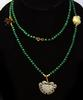 Jadeite Beaded Necklace with Hand-Carved Animal Accents