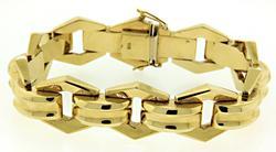 Retro 14kt Geometric Bracelet