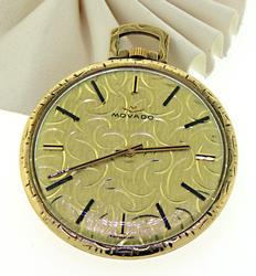 Antique Inspired 14kt Movado Pocket Watch