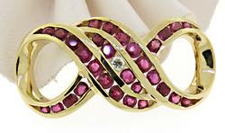 Lustrous 14kt Ruby & Diamond Charm