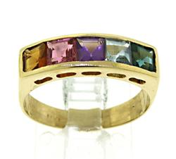 14kt Multi-Colored Gemstone Ring
