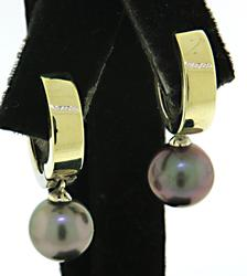 Refined 14kt Pearl Drop Earrings