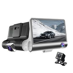 4.3inch 1080P IPS Screen Car DVR 3 Lens Dash Recorder