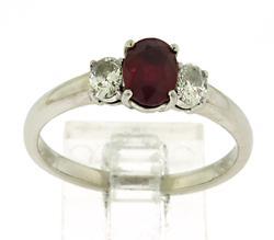 Refined Ruby & Diamond Ring