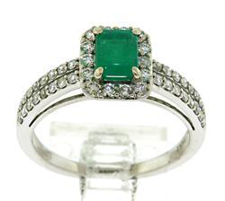 Timeless 14kt Emerald & Diamond Ring