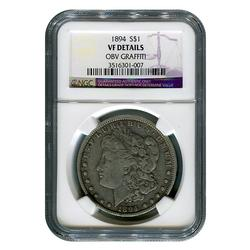 Certified Morgan Dollar 1894 VF Details NGC