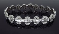 18K White Gold 4.56CTW Diamond Bracelet