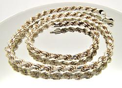 STERLING SILVER ROPE CHAIN.