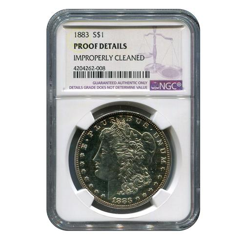 Certified Morgan Silver Dollar 1883 Proof Details NGC