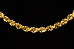 Thick 18K Gold Rope Chain, 19in