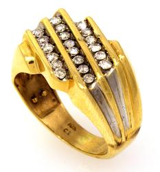 Men's Diamond Ring in Gold, Size 7.5
