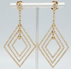 6+Carat Diamond Earrings in 18kt Rose Gold