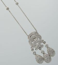 18KT White Gold Necklace with Diamonds