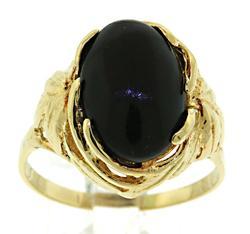 Vintage 14kt Black Onyx Ring