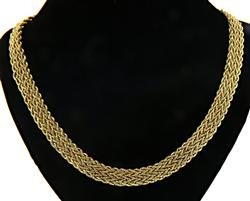 Sophisticated 14kt Rope Chain Collar