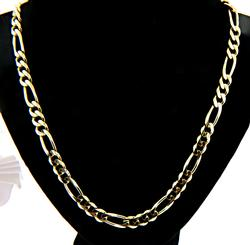 Handsome 14kt Gold Figaro Chain