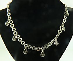 Sterling Silver Lois Hill Charm Necklace