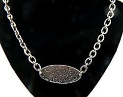 Lois Hill Silver Scroll Pendant