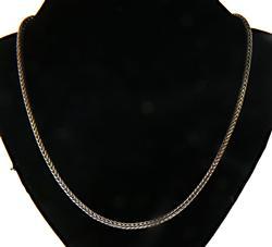 Minimalist Sterling Silver Wheat Chain