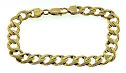Handsome 14kt Gent's Curb Bracelet