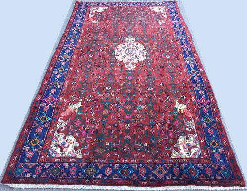 Captivating Mid-20th C. Authentic Handmade Vintage Persian Senneh
