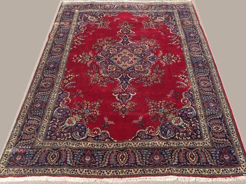 Fantastic 1950s Authentic Handmade Vintage Royal Persian Kerman