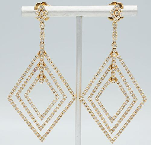 6+Carat Diamond Earrings in 18kt Rose Gold