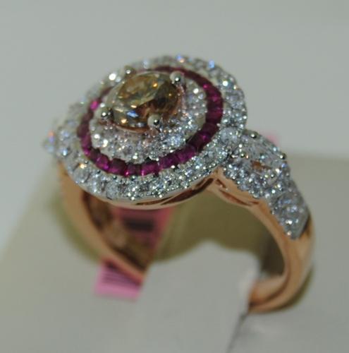 Brown Diamond Ring in 18K Rose Gold