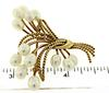 14KT Gold Pin with Pearls