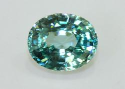 Huge Blue Zircon - 6.24 cts.
