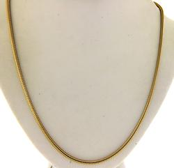 14KT Solid Yellow Gold Snake Chain Necklace