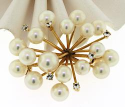 14KT Yellow Gold Pearl Pin