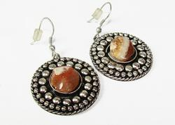 Ethnic Handcrafted Silver Tone earrings with Stone