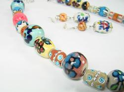 Adorable Art & Craft handpainted Ceramic Beads Set