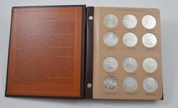 60 Coins - US Modern Commemorative Dollars 2002-2017 Coin Album